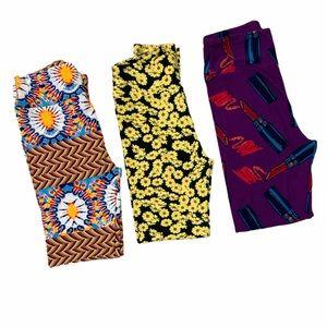 Lularoe one size legging bundle multicolor OS